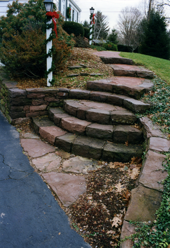 custom stone steps by StoneMasters Masonry